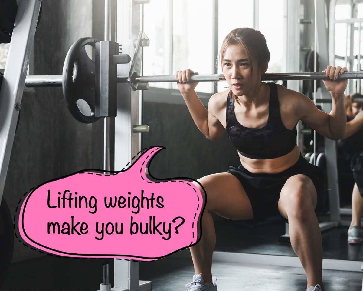 Myth 1: Does lifting weights make you bulky?